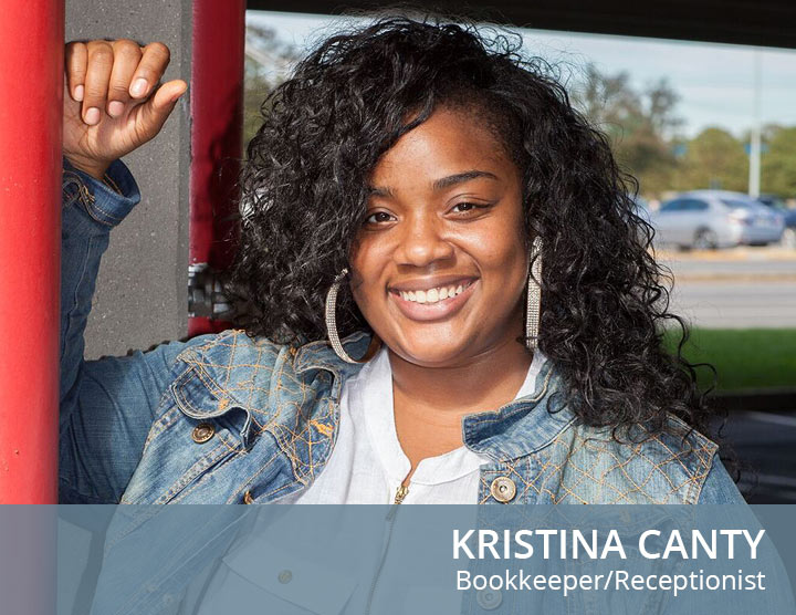 Kristina Canty- Bookkeeper/receptionist