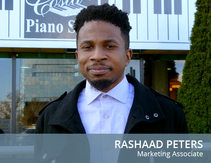 Rashaad Peters - Marketing Associate