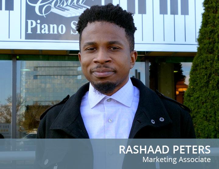 Rashaad Peters - Marketing Associate