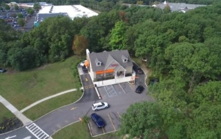 Alternative Aerial Image of Double Net (NN) Dunkin' Retail Building in East Setauket, New York