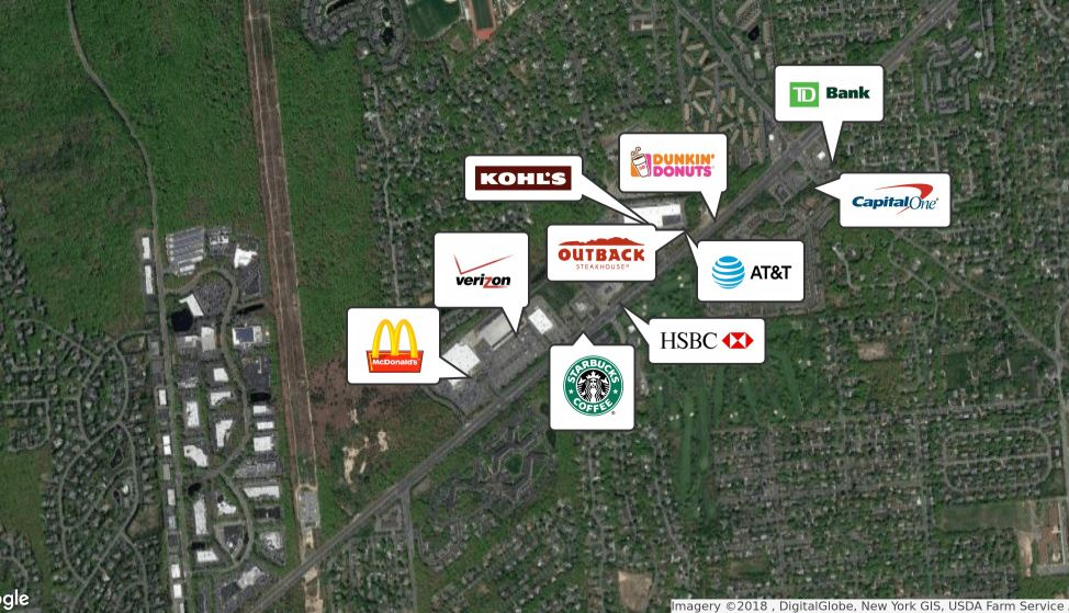 Retailer Map of 5055 Nesconset Highway, in East Setauket, NY