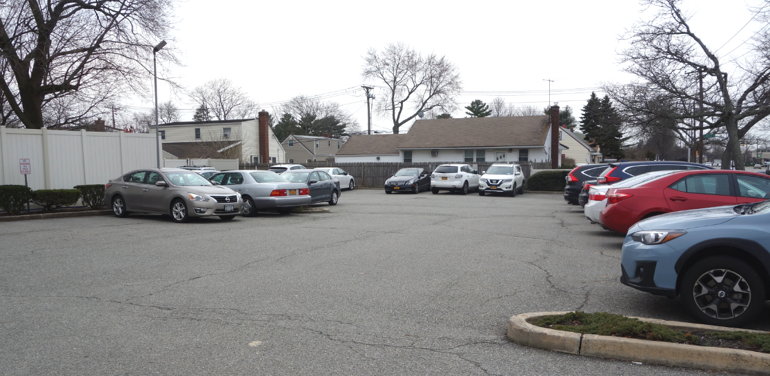 Parking Lot of Long Island Commercial Building For Sale
