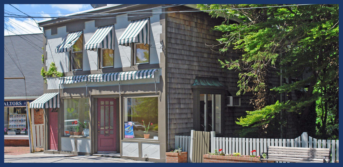 Outside shot of mixed-use building on 138 East Main Street, in Port Jefferson, NY.