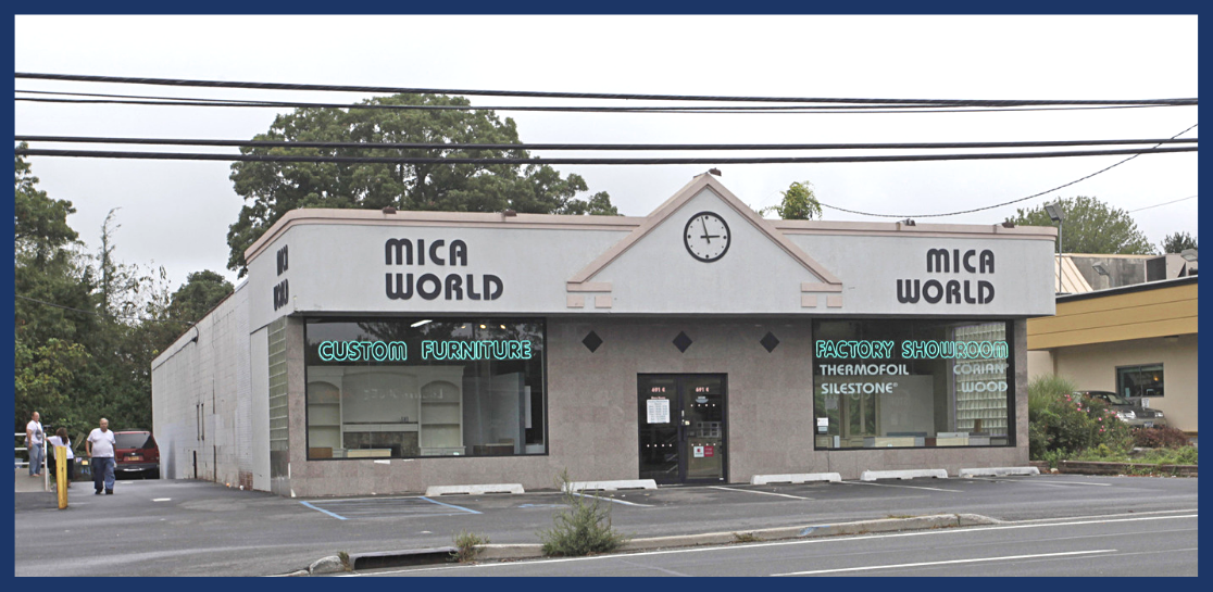 Exterior shot of furniture showroom property on 691 East Jericho Turnpike, in Huntington Station, NY.