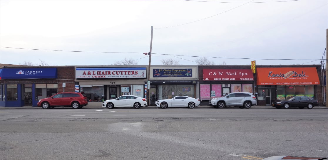 Image From Across The Street of Retail Building For Sale in Franklin Square, NY