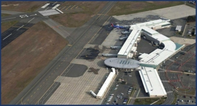 Aerial View of Long Island MacArthur Airport